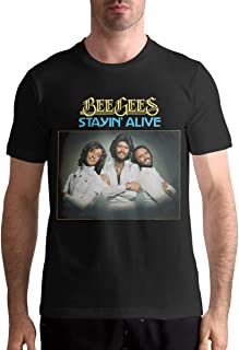 Men Bee Gees Staying Alive Sports Particular Short Sleeve T-Shirt