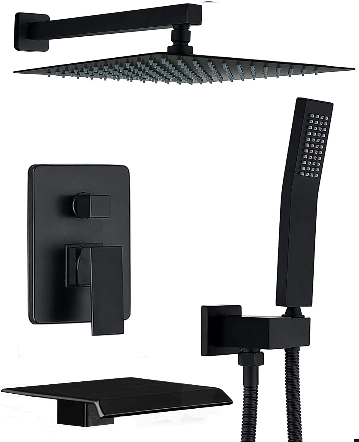CHING Shower System Matte Finally popular brand Black Wall w Set Mounted Faucet Austin Mall