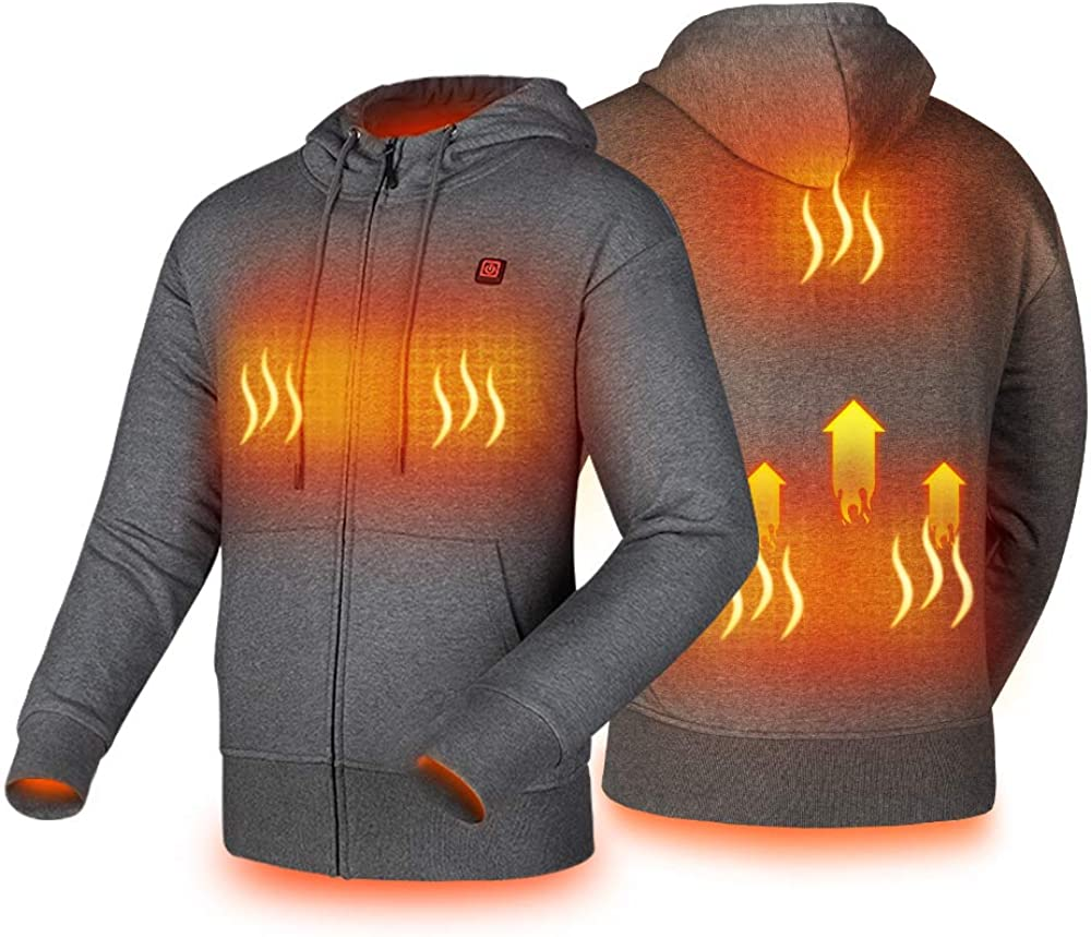Heated Hoodie Easy-to-use with USB 5V 10000mAh Men Power Pack Bank quality assurance a Battery