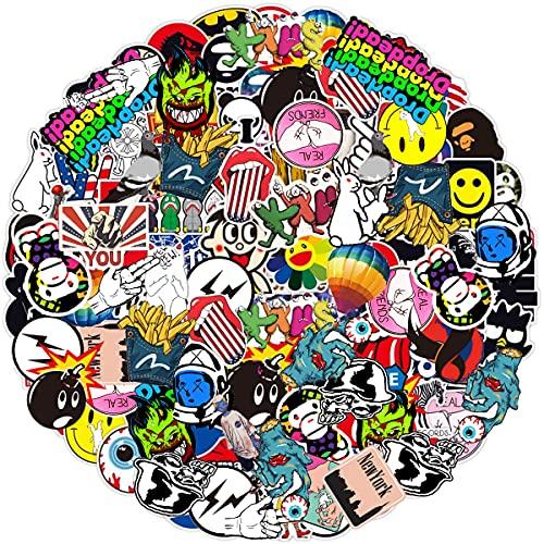 Jackify Adesivi Pack 100 PCS, Cool Stickers Vinili per Computer Portatile, Bottiglie d'Acqua, Bagagli, Skateboard, Auto, Moto, Biciclette, Valigia, Adesivi paraurti Decals Bomba
