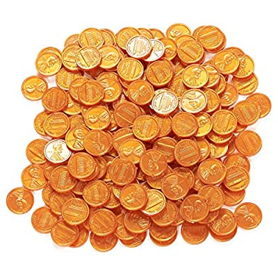 Play Coins - Fake Plastic Coins - Pretend Money - Great Teaching Tool, Prop, Kids Toy