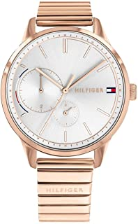 Tommy Hilfiger 1782021 Womens Quartz Watch, Analog Display and Stainless Steel Strap, Rose Gold