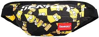 Man's Waist Packs,Fashion Doodling Hip hop Bags,Fanny Pack with Adjustable Belt,2ways Use Shoulder Bag,Sport Bum Bag Hip Sacks Travel Running Festival Hiking Rave (Yellow)