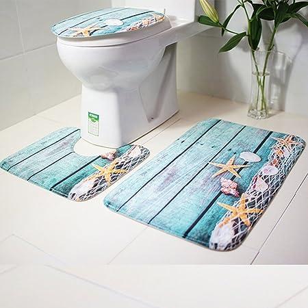 Bath Mat Pedestal Rug Toilet Bathroom Non Slip Shower Soft Washable 2 Piece Set
