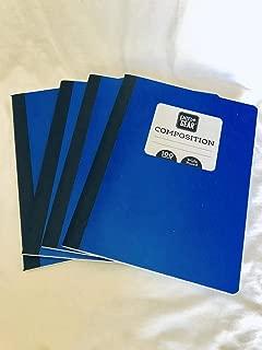 Pen & Gear Composition Notebook 4 Bundle (Blue)