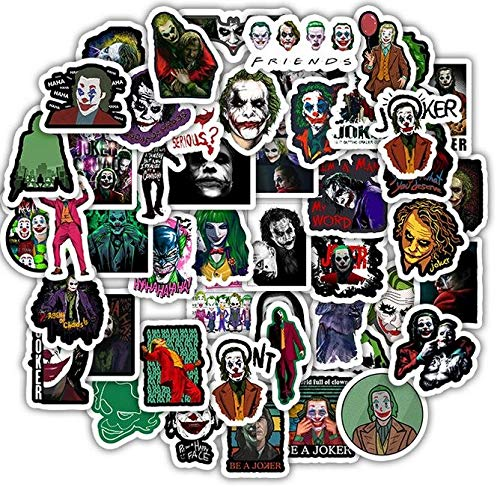 QINGMI /Set Horror Clown Scrapbooking Stickers Waterproof Suitcase Luggage Laptop Refrigerator Skateboard Decal 50Pcs