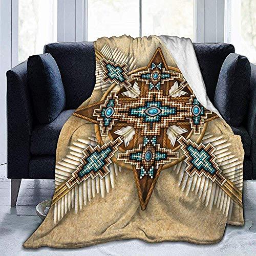 venty Wunderschöne indianische Fleecedecke | Superweiche Fleecedecke aus Mikrofaser Luxuriöse Fernsehdecke