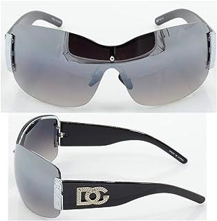 536b2b003d6d Womens DG Sunglasses Eyewear Designer Shades Color Large Size Black Silver  dg857