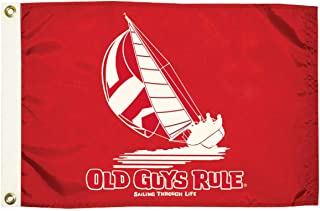 Taylor Made Products 5634 Old Guys Rule Sailing Through Life Flag