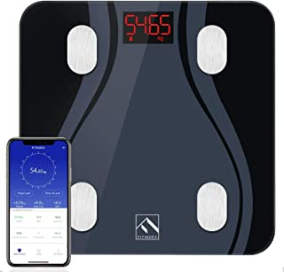 FITINDEX Smart Body Fat Scale BMI Scale Bathroom Digital Weight Wireless Scale with Body Composition Monitor Analyzer Func...