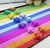 kentop Origami Paper Lucky Star rayas Origami estrellas Papel DIY Tiras de papel para Lucky Star 24.5cm*1.2cm Stil-1