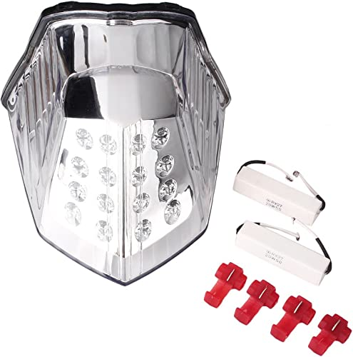 2021 Mallofusa Motorcycle Integrated outlet sale Taillight LED Brake Tail high quality Light Compatible for Yamaha XJ6 2009 2010 2011 2012 Clear Lens outlet online sale