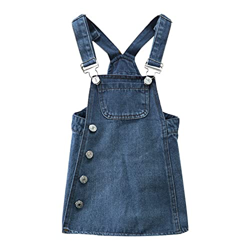 9e76e677f79 BINIDUCKLNG Kids Girls Denim Dungaree Dress