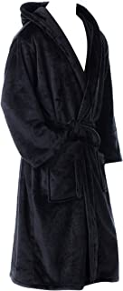 Mens and Womens Fleece Robes, Soft Plush Long Bathrobe, Thick Kimono Robes for Unisex Adults, Warm House Coat