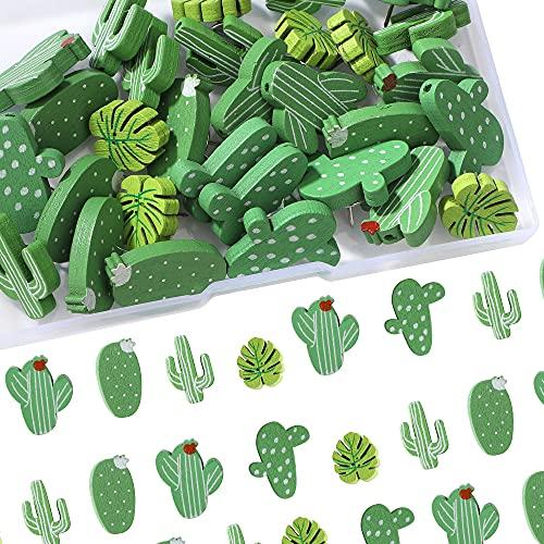 Chinchetas de Madera Alfileres Cactus Chinchetas Tachuelas Cactus Palma para Fotos de Pared Mapas Tablón de Anuncios Tableros de Corcho 30 Piezas
