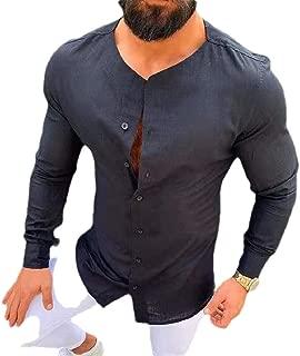 Zimaes-Men Floral Printed Standard-fit Turn Down Collar 3D Long-Sleeve Dress Shirt