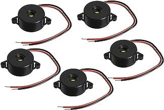 PGSA2Z™ 5Pcs 3 - 24V Small Enclosed Piezo Electronic Buzzer Alarm 95DB w/Wires