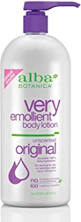 Alba Botanica Very Emollient Body Lotion, Unscented Original, 32 Oz
