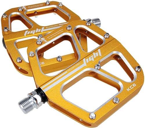 se descuenta Pedal de de de bicicleta Pedales de bicicleta de Montaña 1 par de aleación de aluminio antideslizante Pedales de bicicleta duraderos de superficie para carretera BMX MTB Bike 6 Colors Patín ligero  moda clasica