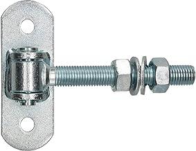 KOTARBAU® Torchgel verzinkt schroefdraad M 18 mm instelbaar met aanschroefplaat deurscharnier regelbaar met veerklem deurs...