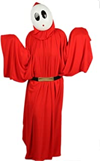 Shy Guy Mask and Costume Cloak Outfit Suit for Halloween Cosplay