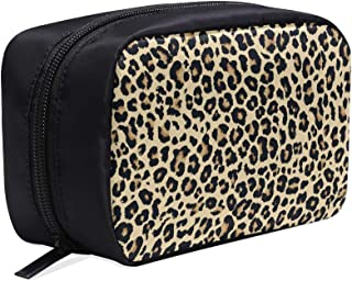 Sexy Hot Trend Leopard Pattern Portable Travel Makeup Cosmetic Bags Organizer Multifunction Case Small Toiletry Bags For Women And Men Brushes Case