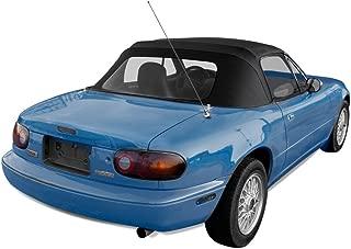 Sierra Auto Tops Convertible Soft Top Replacement, compatible with 1990-2005 Mazda Miata MX5, w/Plastic Window, Cabrio Vinyl, Black