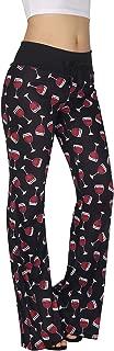HDE Womens Pajama Pants Wide Leg Sleepwear Casual Loose Lounge PJ Bottoms