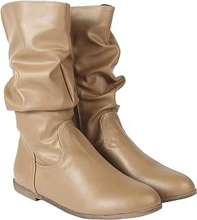 Flat n Heels Womens Khaki Boots FnH 07-25-KH