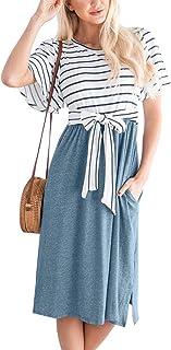 Spadehill Women's Floral Printed Wrap Bodice Sleeveless Crossover Maxi Dress