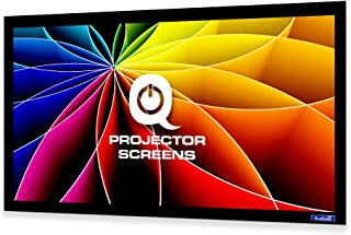 QualGear 150-Inch Fixed Frame Projector Screen, 16: 9 High Contrast Gray at 0.9 Gain (QG-PS-FF6-169-150-G)