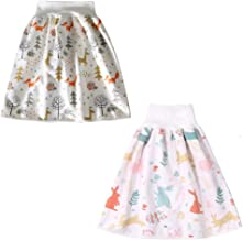 Short de jupe à couches pour enfants confortable, 2 en 1 Short de couche taille haute respirant et absorbant pour 0 à 8 ans