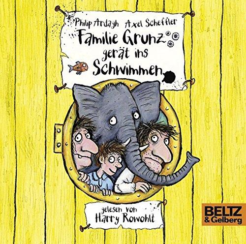 Familie Grunz gerät ins Schwimmen: Folge 2, gelesen von Harry Rowohlt, 3 CDs in der Multibox, 4 Std. 17 Min.