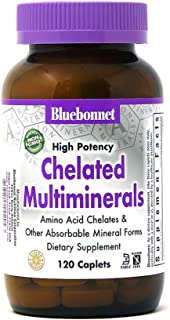 Bluebonnet Nutrition High Potency Chelated Multiminerals Caplets (with Iron) 120 Count