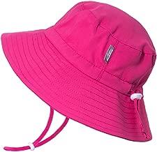 JAN & JUL Girls Quick-Dry Sun-Hat 50+UPF Protection, Adjustable Straps, for Baby, Toddler, Kids