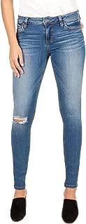 Women's Mia Toothpick Skinny Jeans in Lighten w/Medium Base Wash