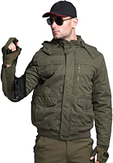 Winter Men Jacket Military Hooded Thick Casual Jacket Coat Army Green Parka Overcoat