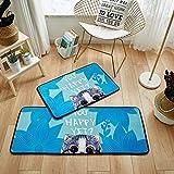 HYY-YY Alfombra de área para el hogar, alfombra absorbente, 50 x 1,8 m, diseño de gato travieso cargado