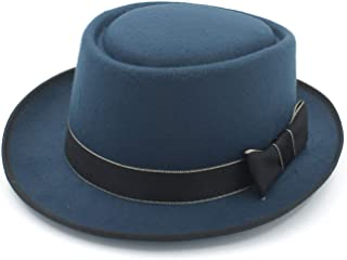 Autumn Women Men Hat Dad Winter Retro Fedora Hat (Color : Sky Blue, Size : 58cm)