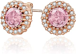 MESTIGE Women Crystal Rose Gold Mallory Earrings with Swarovski Crystals