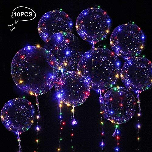 Parsion 10 Stücke Helium Balloon Gas Leucht Luftballon Weiss Zuhause Dekoration Zum Party Hochzeit Weihnachten Festival