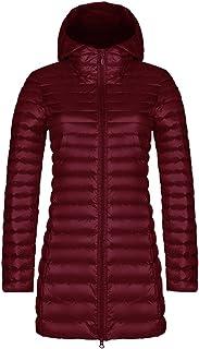 LvRao Womens Long Ultra Light Down Jackets Quilted Padded Winter Parka Puffer Packable Outwear Coats