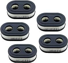 HOODELL 5pcs Air Filter 593260, Compatible with Briggs Stratton 798452, Troy Bilt TB110, Toro, Craftsman, Husqvarna Air Cleaner, Premium Lawn Mower Air Filter