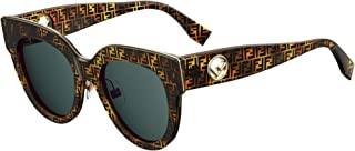 Sunglasses Fendi Ff 360 /G/S 0H7P Tortoise Camu/KU blue avio lens