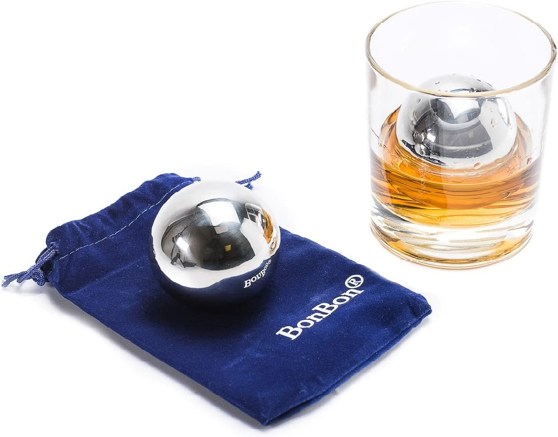 BonBon Large 5.5 cm pair 2021 spring and summer new Balls-Reusable Now free shipping Stainle Whiskey Metal of