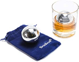 BonBon Large 5.5 cm pair of Whiskey Balls-Reusable Metal Stainless Steel,Scotch,Vodka,Wine Ice Chiller Rocks Gift Set. Chi...