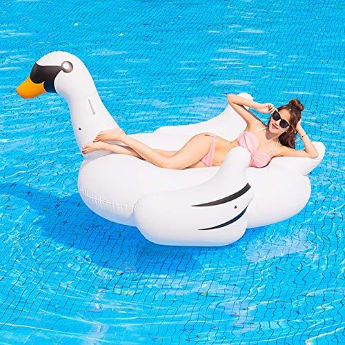 tyuiop Gigante Flotador Inflable para Piscina, Paseo En Flotador Cisne Blanco Playa de Verano Alberca Balsa de Salón de Fiestas Juguetes de Decoración, 75 * 75 * 51 Pulgadas