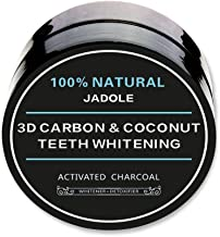 Jadole Naturals Natural 3d Carbon Activated Organic Charcoal Teeth Whitening Coco Nut Powder