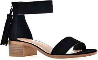 Chunky High-Heeled Dress Strap Over The Ankle Sandal