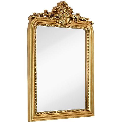 f9d509ae3916 Hamilton Hills Top Gold Baroque Wall Mirror